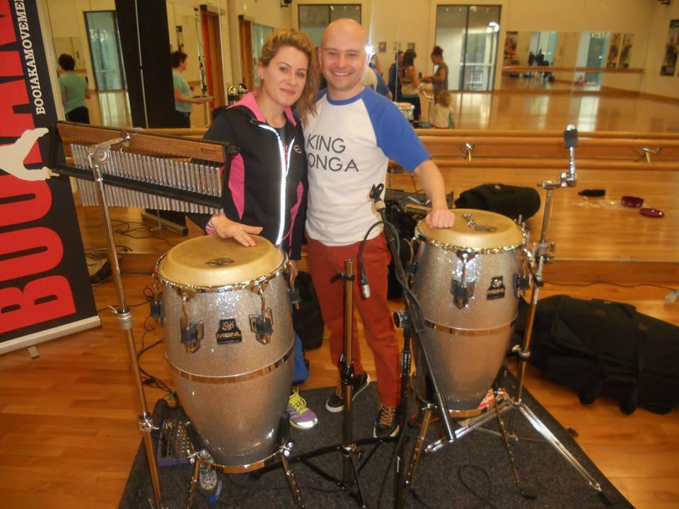 King Konga percussionist - dance fitness