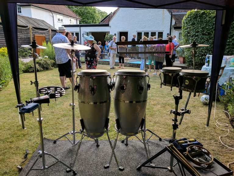 King Konga - Garden Party Percussionist / Bongo player.
