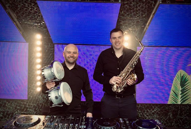 DJ, Sax and Percussion / bongos