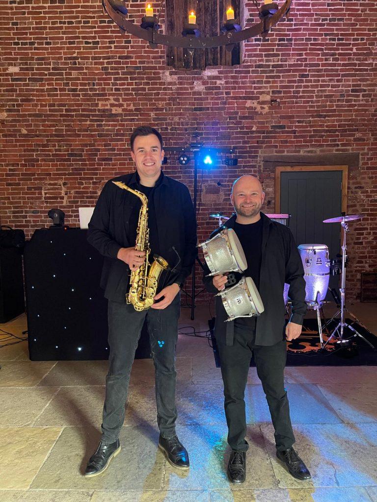 DJ Sax and Percussion wedding